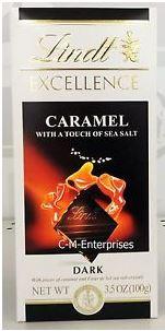 Lindt Dark Choc, Caramel with a touch of sea salt 3.5 oz