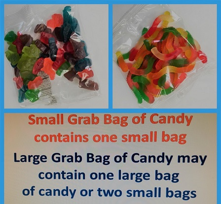 Small Grab Bag Candy $1.25